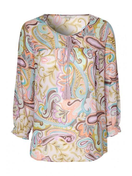 Womens Printed Kaftan Top