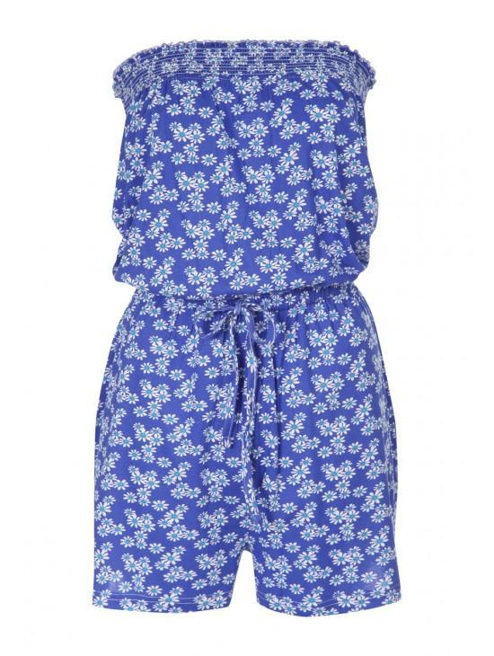 Womens Printed Bandeau Playsuit