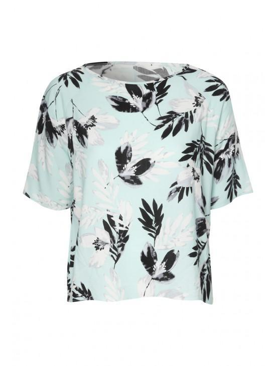 Womens Printed Boxy Top