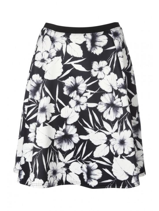 Womens Printed Skuba Skirt
