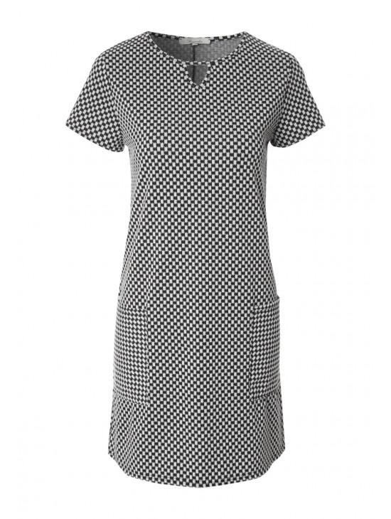 Womens Jacquard A-Line Dress