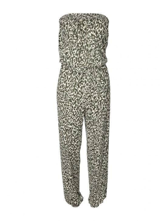 Womens Printed Bandeau Jumpsuit