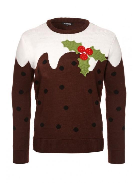 christmas pudding jumper