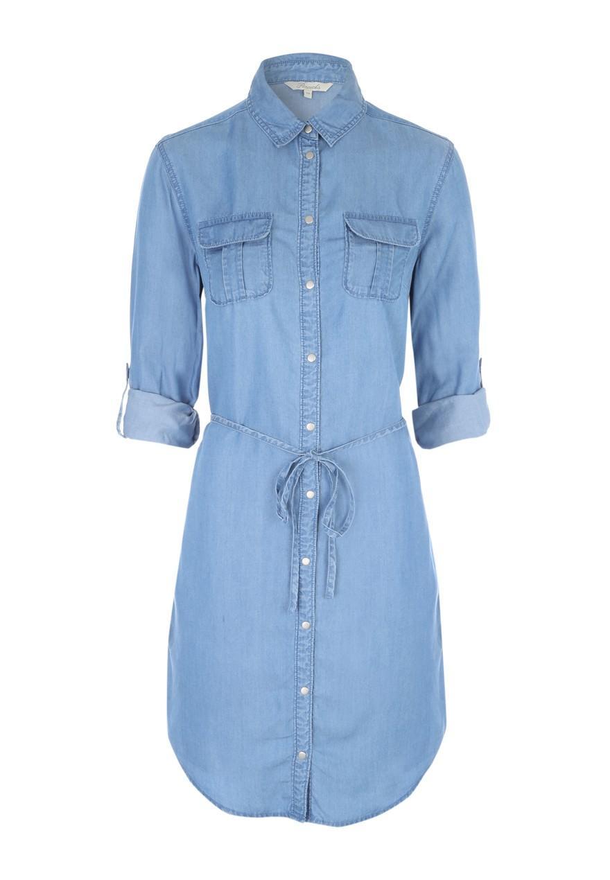 056c953e72 Womens Belted Tencel Denim Shirt Dress