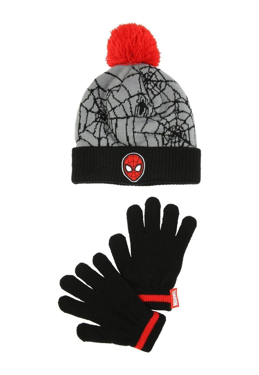 090ab445d42 Younger Boys Spiderman Hat And Glove Set