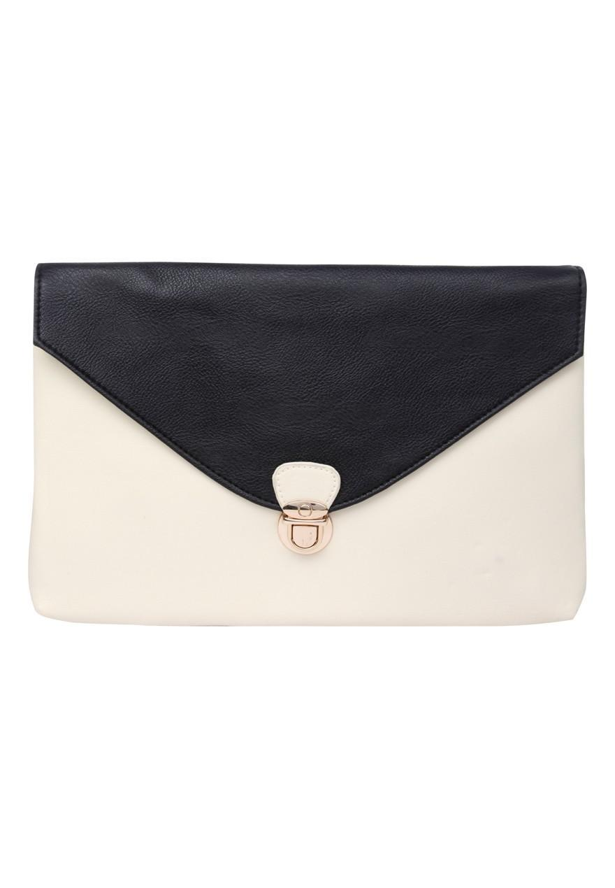 Black And Cream Handbag | Luggage And Suitcases