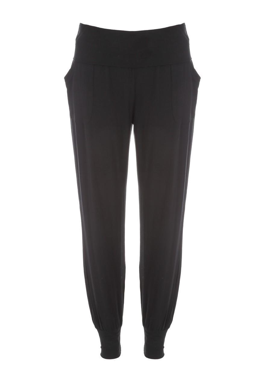 Model Bella 0818 Womens Vintage Jersey Lounge Pant  Black 2XL