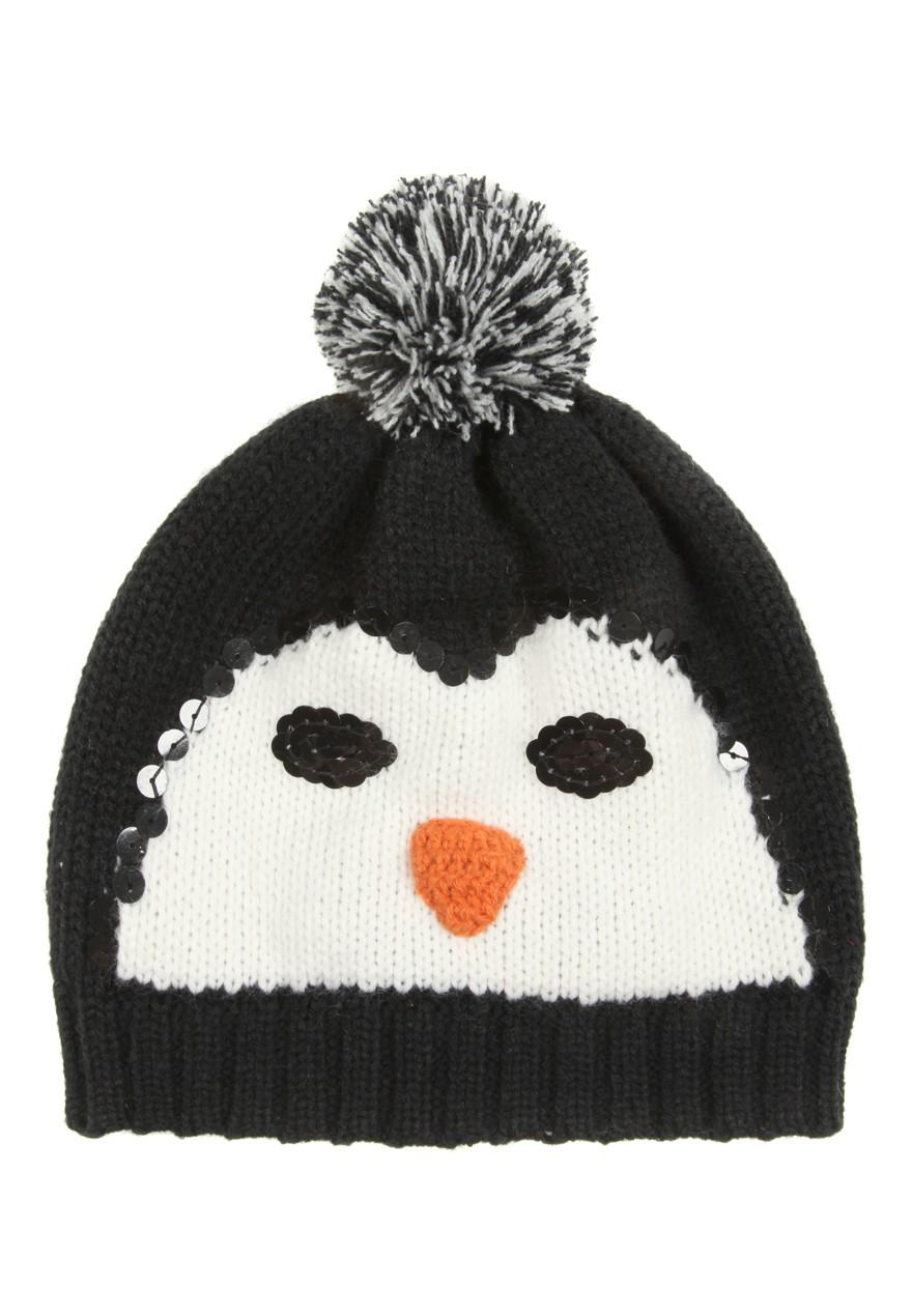 e6318ca35a9 Womens Penguin Beanie Hat