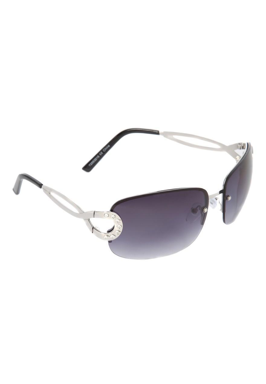 Womens Black Frameless Sunglasses Peacocks