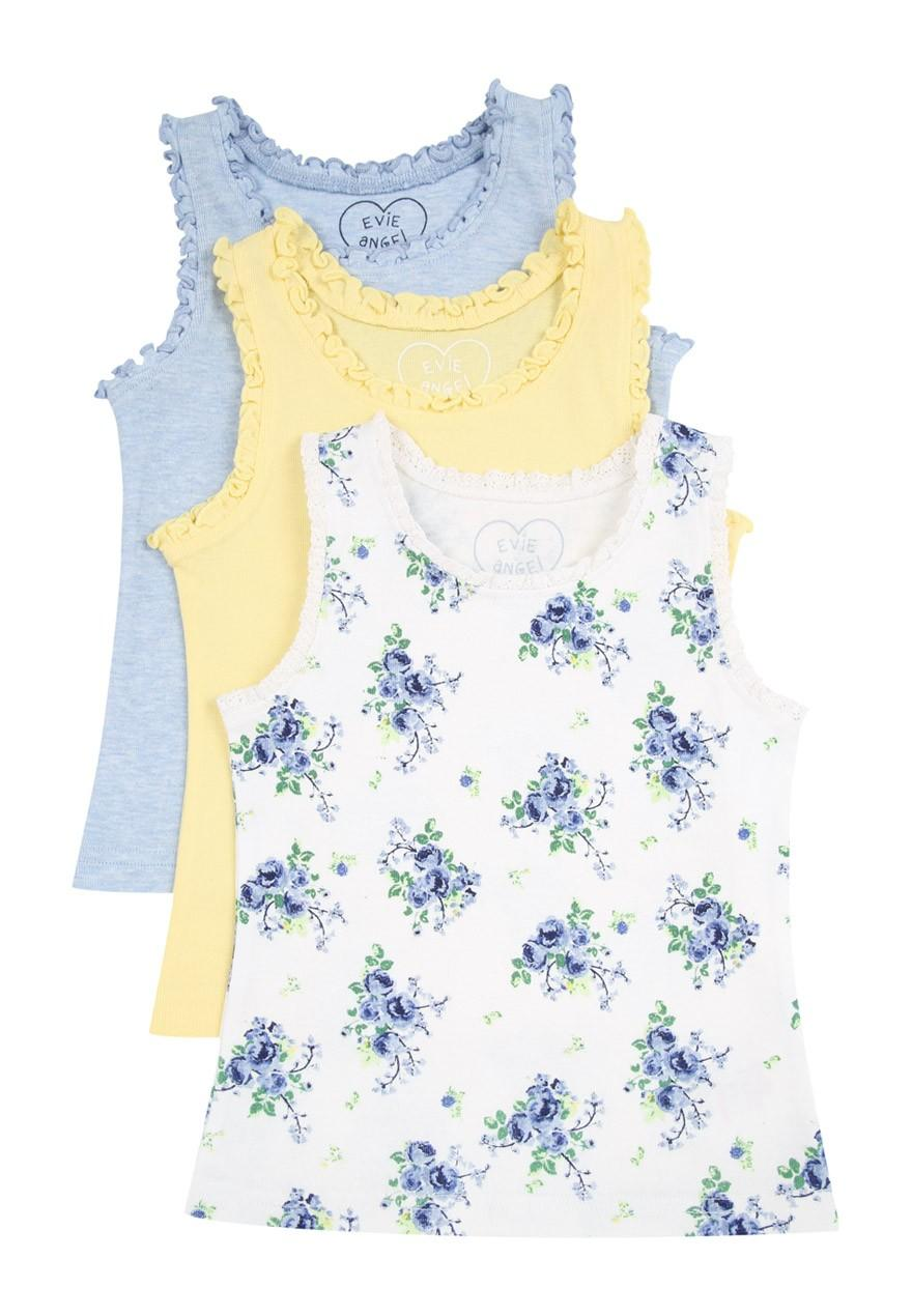 a4e447b416bb11 Girls Younger Girls 3pk Frill Trim Vests | Peacocks