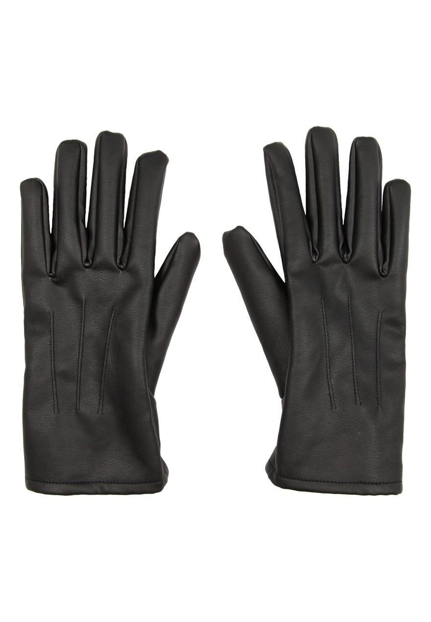 Leather mens gloves uk - Home Mens Faux Leather Gloves Zoom