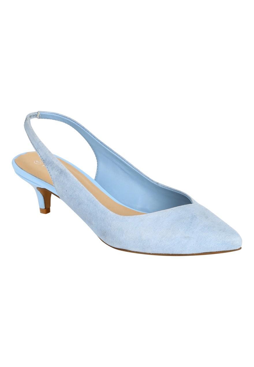 27b03afd84b Womens Kitten Heel Slingback Shoes