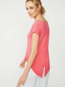 Womens Pink Zip Back Top