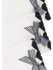 Girls 3pk White Bow Socks