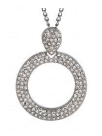 Womens Circle Pendant Necklace