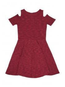 Older Girls Cold Shoulder Rib Dress