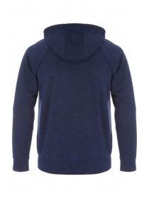 Mens Blue Bonded Space Dye Zip Through Hoody
