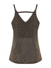 Womens ENVY Black Sparkle Cami Top
