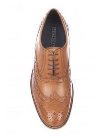 Mens Dark Tan Laceup Brogues