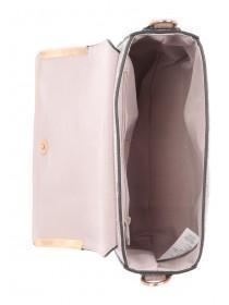 Womens Pink Snakeskin Chunky Crossbody Bag
