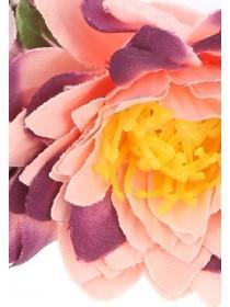 Womens Pink Multi Flower Hair Garland