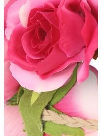 Womens Pink Large Rose Garland