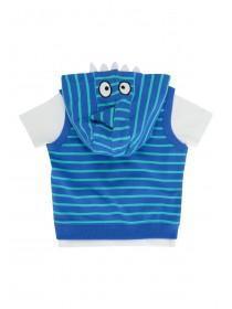 Baby Boys Light Blue 2PC Shark Hoody