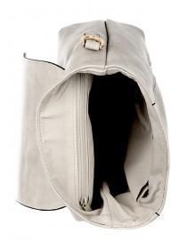 Womens Grey Mink Tall Crossbody Bag