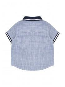 Baby Boys Blue Denim Polo Shirt