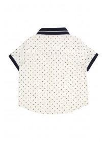Baby Boys White Triangles Polo Shirt