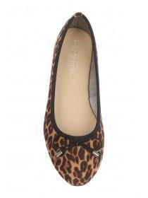 Womens Leopard Print Comfort Ballet Shoes