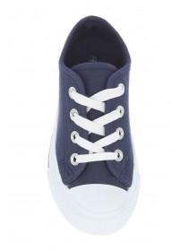 Younger Boys Blue Lace-Up Plimsolls