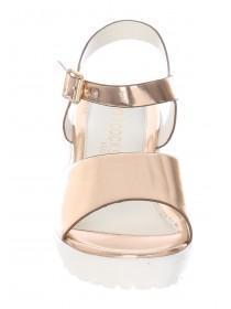 Older Girls Rose Gold Chunky Sandals