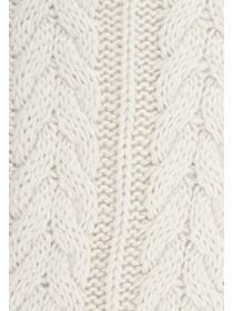 Womens Natural Cable Knit Scarf
