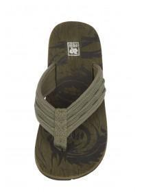 Boys Green Toepost Flat Sandals