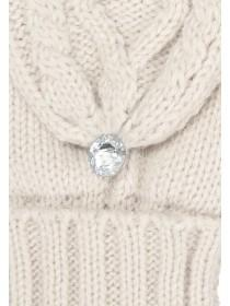 Womens Fliptop Cable Knit Glove
