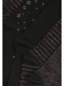 Womens 5pk Black Socks