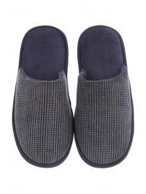 Mens Blue Mule Slippers