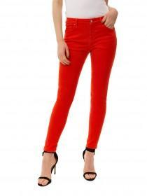 Jane Norman Orange Skinny Ankle Grazer Jeans