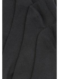 Womens 4PK Black Supersoft Trainer Socks