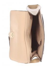 Womens Beige Across Body Bag