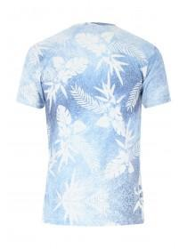 Mens Blue California Leaf T-Shirt