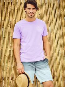 Mens Lilac Surf Rider T-Shirt
