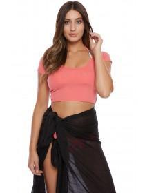 Jane Norman Pink Cross Back Crop Top