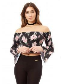 Jane Norman Floral Printed Bardot Gypsy Top