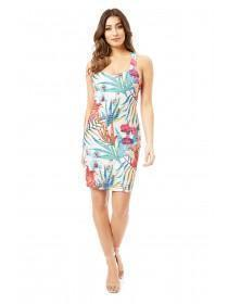 Jane Norman Multicolour Tropical Print Bodycon Dress