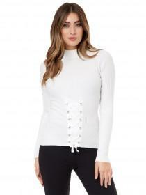 Jane Norman White Corset Jumper