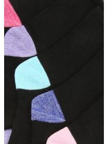 Girls 5pk Black Socks