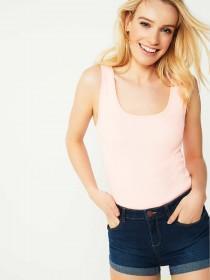 Womens Pale Pink Rib Vest