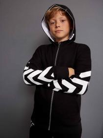 Older Boys Black Graphic Hoody